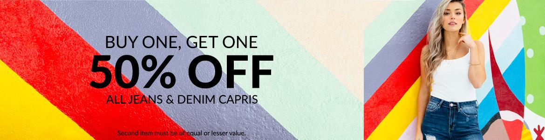 30162ce5c2 Jeans   Denim Capris - Buy one