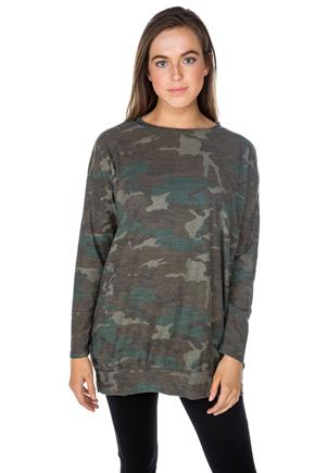 Camouflage Long Sleeve Tunic