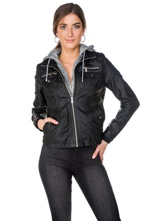 YMI Faux Leather Fooler Jacket