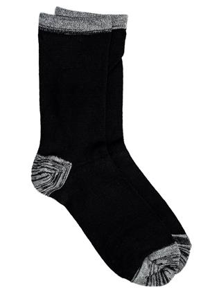 Contrasting Heel and Toe Bamboo Sock