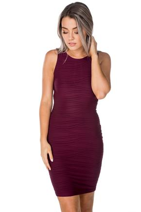 Jacquard Bodycon Dress with Back Cut Out