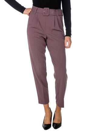 High-Rise Trouser with Buckle Belt
