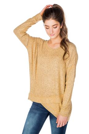SuperSoft Sweater with Crossover Hem