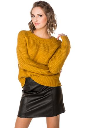 Long Sleeve Knit Crewneck Sweater