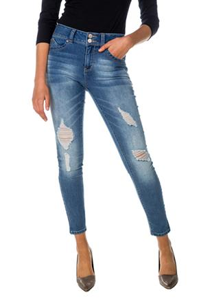 "Tattoo ""Maddie"" Distressed Push-Up Skinny Jean"