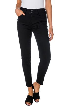 "Tattoo ""Maddie"" Black Mid-Rise Push-Up Skinny Jean"