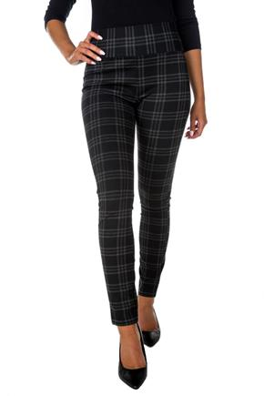 Houndstooth Plaid Seriously Slimming© Skinny Pant with Wide Waistband