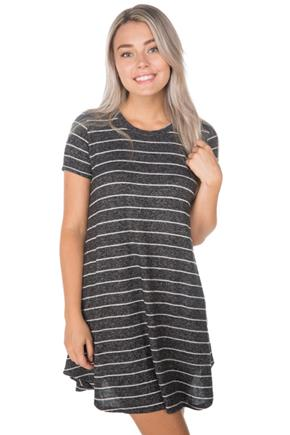 Supersoft Stripe Swing Dress