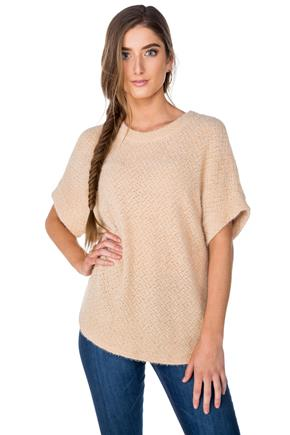 Chenille Short Sleeve Sweater