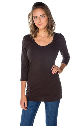 3/4 Sleeve V-Neck Tunic