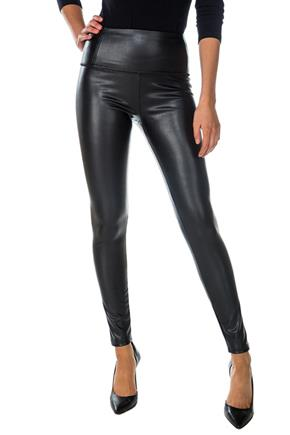 Pleather Pant with Wide Waistband