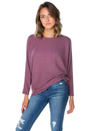 Ribbed Dolman Sleeve Tunic