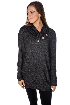 SuperSoft Crossover Tunic with Button Detail