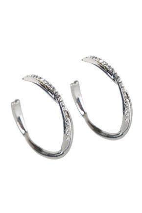 Twisted Hoops with Rhinestones