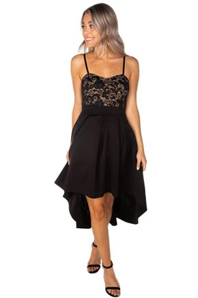 High-Low Lace Top Dress
