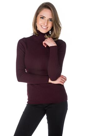 Ribbed Long Sleeve Turtleneck