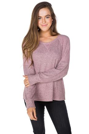 Supersoft Sweater with Waffled Detail