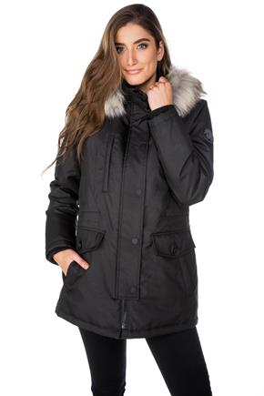 Tattoo Parka with Faux Fur Trim Hood