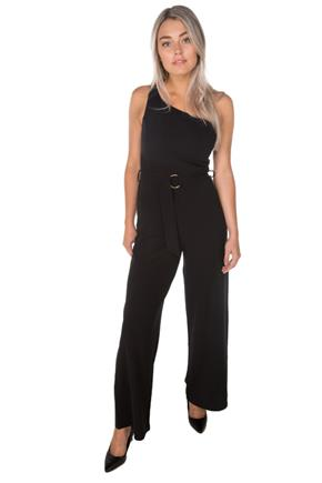 One Shoulder Jumpsuit with Belt