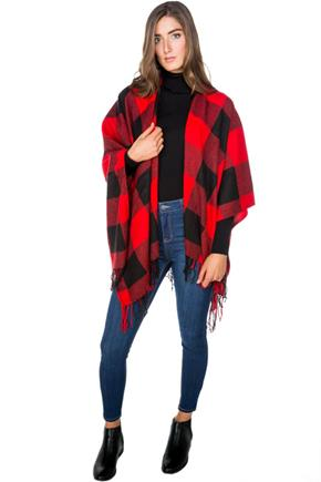 Buffalo Plaid Ruana