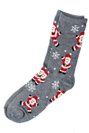 Santa and Snowflake Sock