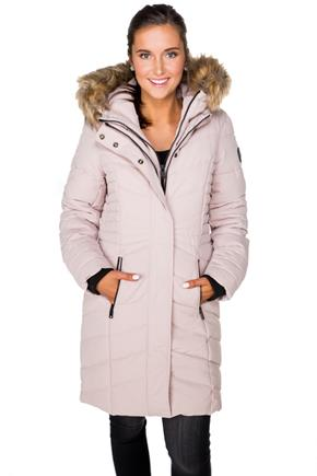 Point Zero Oxford Long Parka with Faux Fur Trim Hood