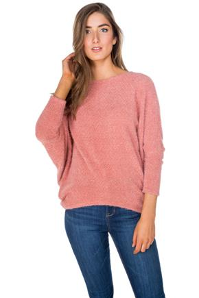 Chenille Dolman Sleeve Sweater
