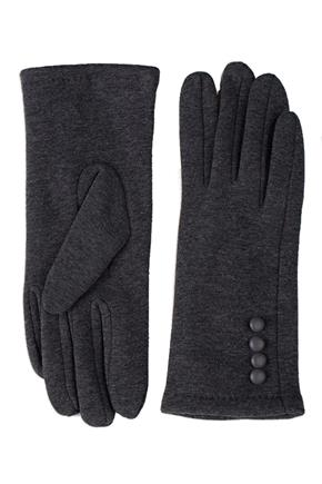 Velvet Lined Glove with Covered Buttons