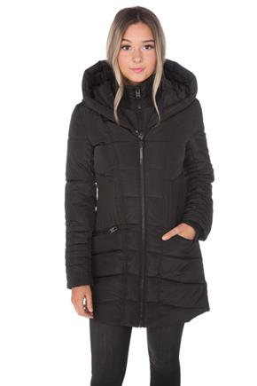 Point Zero Hooded Parka with Quilted Waist
