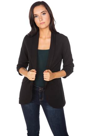 3/4 Sleeve Blazer with Shawl Collar