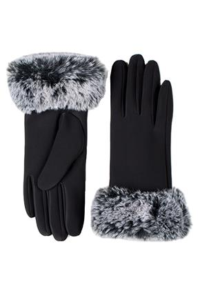 Glove with Frosted Faux Fur Cuff