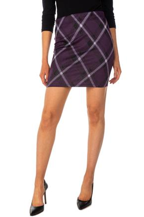 Bias Plaid Bodycon Skirt