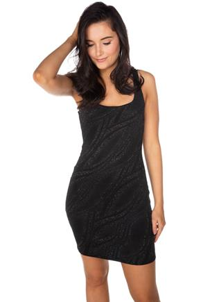 Glitter Wave Bodycon Tank Dress