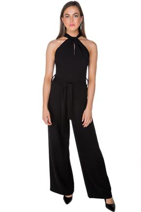 Halter Jumpsuit with Wide Leg