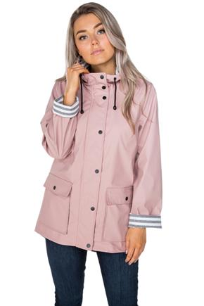 Rain Jacket with Printed Lining