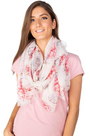Floral Light Scarf