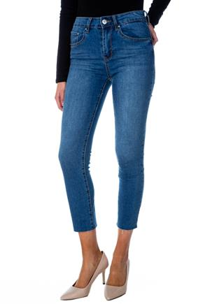 Almost Famous High-Rise Straight Leg Cropped Jean