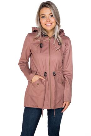Faux Leather Trim Anorak