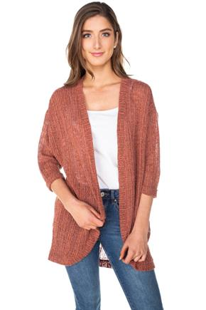 Open Knit Cocoon Cardigan