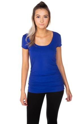 Scoop Neck Tunic with Side Ruching