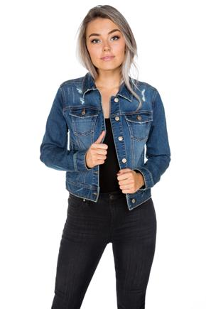 Celebrity Pink Jalisco Wash Basic Jean Jacket