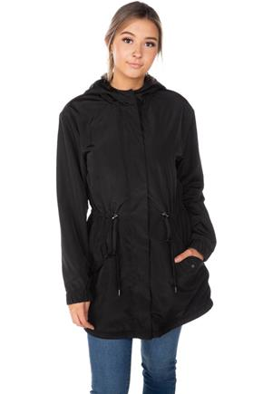 Hooded Anorak with Faux Fur Lining