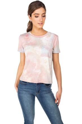 WallFlower Tie-Dye Pocket Tee