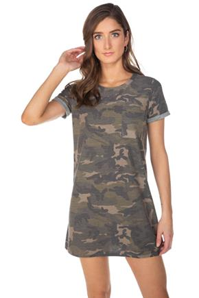 Camouflage Short Sleeve Dress