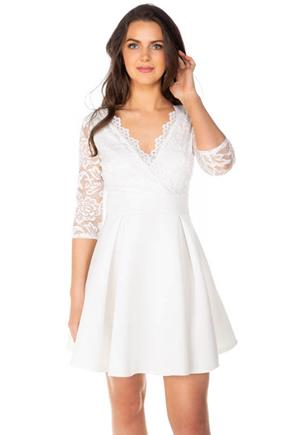 3/4 Sleeve Lace Top Skater dress