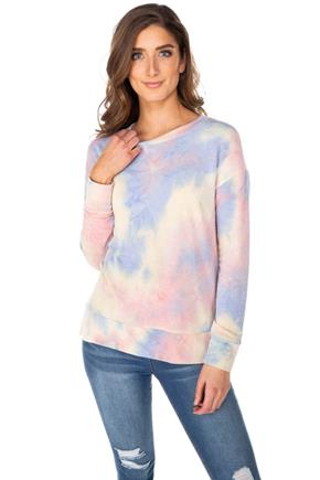 Tie-Dye Long Sleeve Sweatshirt
