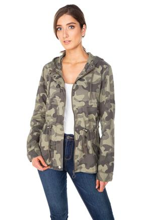 Camouflage Hooded Anorak