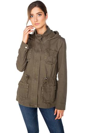 Four-Pocket Hooded Twill Anorak