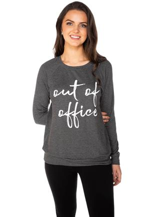 """Out of Office"" Graphic Sweatshirt"