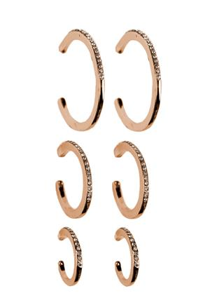 Triple Set of Rhinestone Hoops